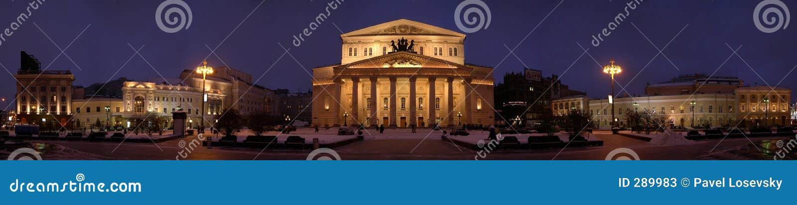 Panorama del teatro de Bolshoi