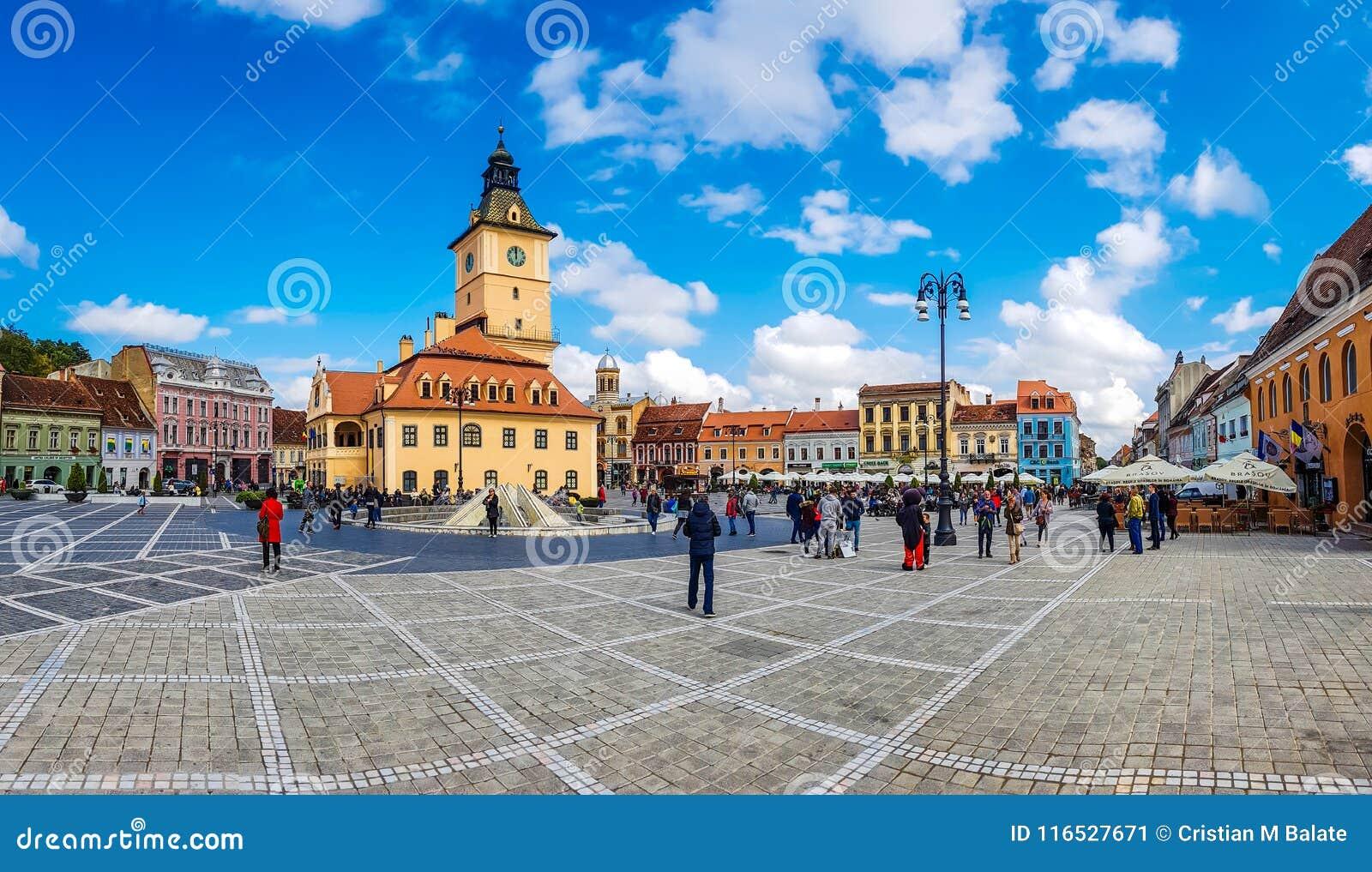 Panorama della città di BRasov, Romania