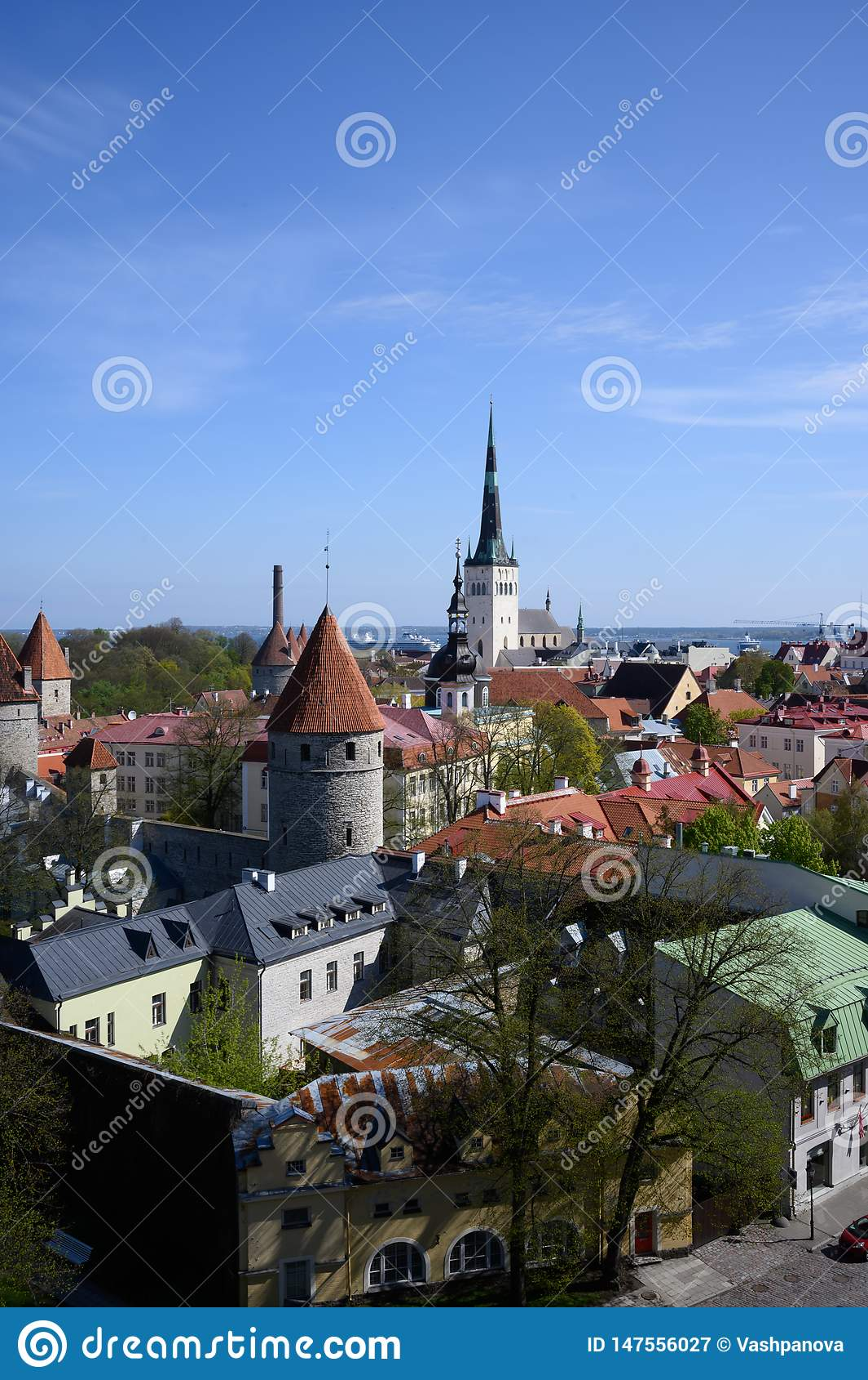 Panorama della città medievale