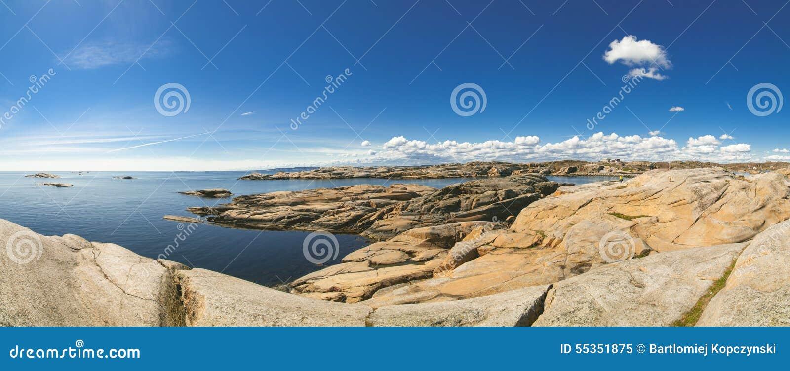 Panorama della costa dell estremità di Verdens, Norvegia