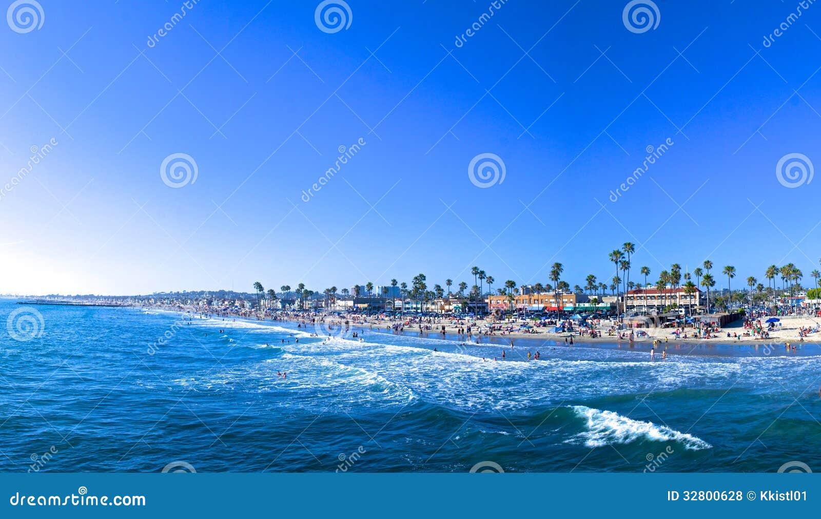 Panorama della spiaggia di Newport