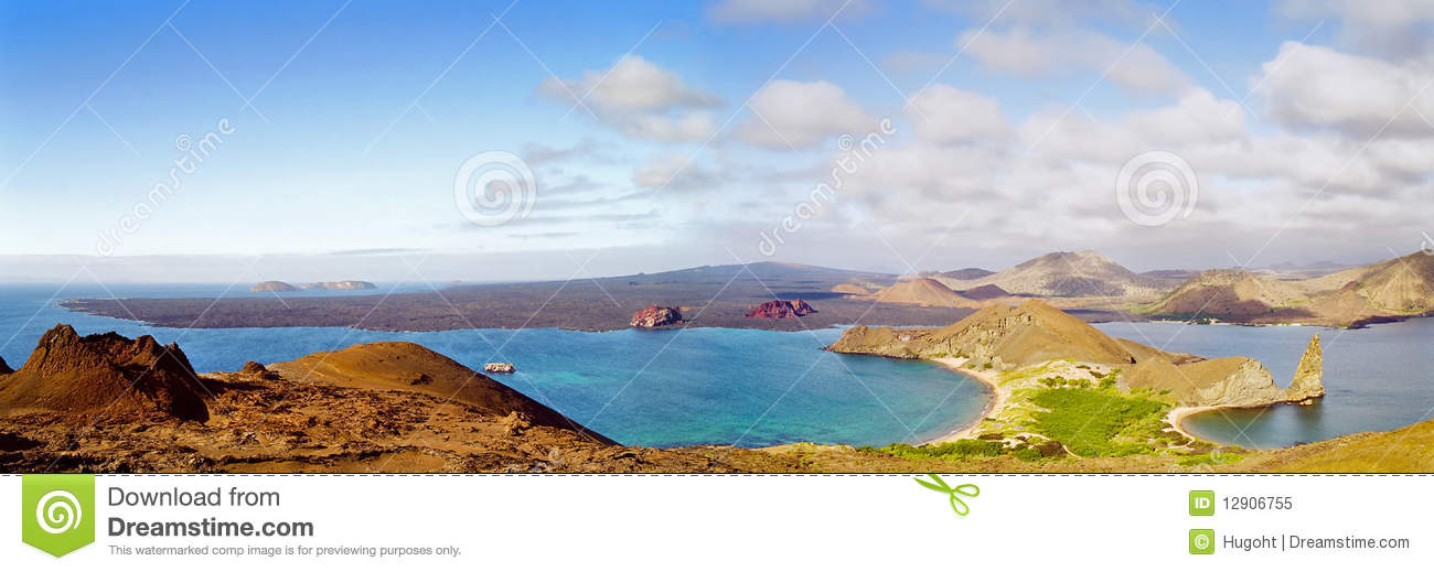 Panorama delle isole di Galapagos