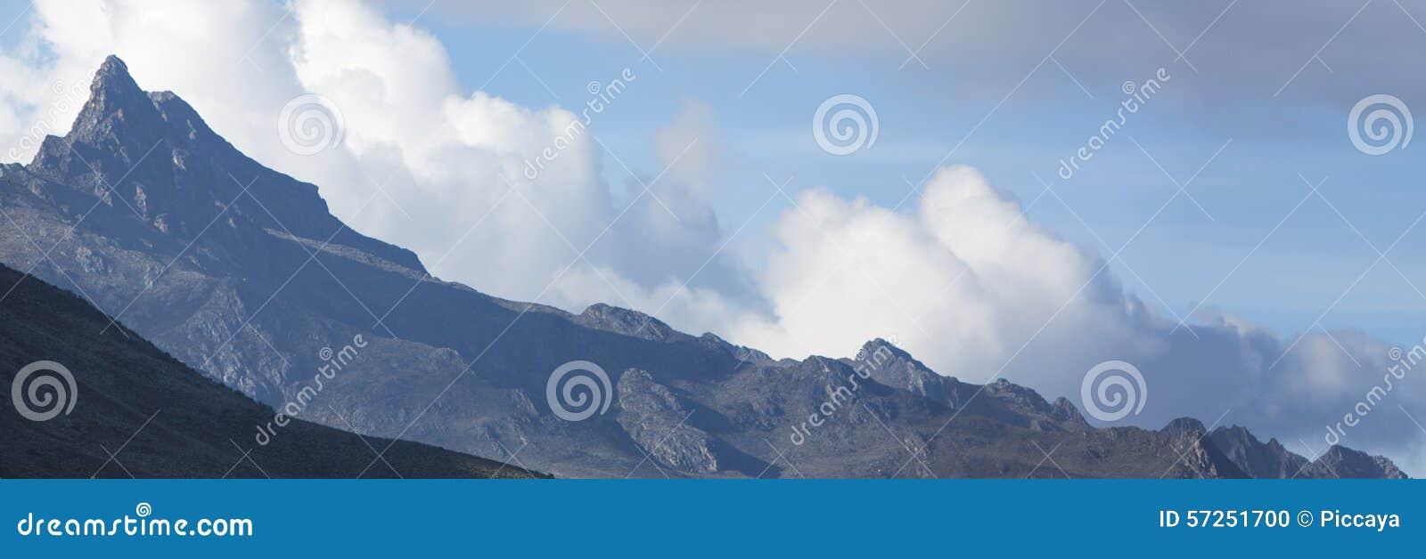 Panorama Der Anden Berge Staat Von Merida Venezuela Stockfoto Bild