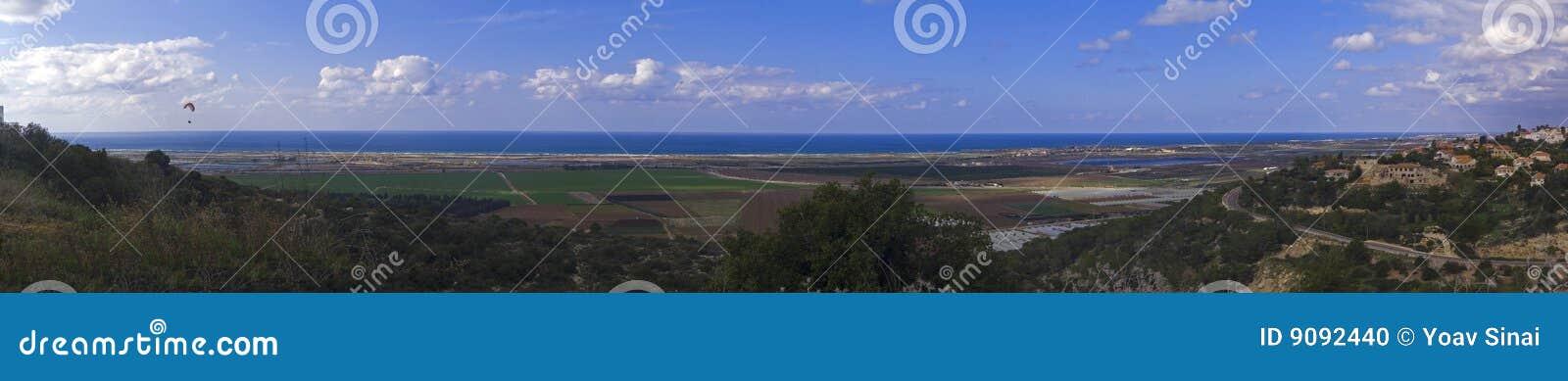 Panorama der Küstenebene
