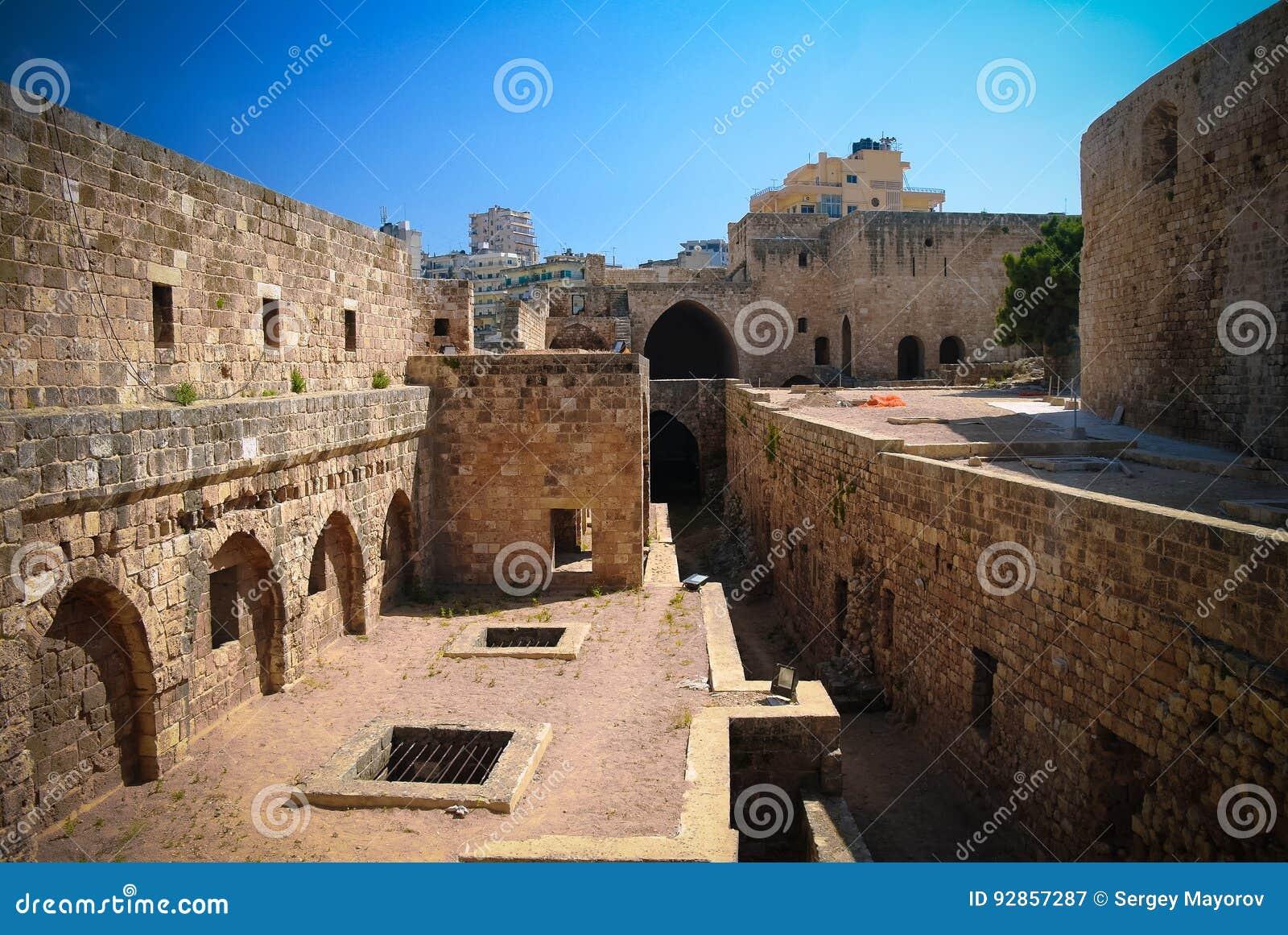 Panorama der Zitadelle des Raymond de Saint-Gilles-alias Pilger-Hügels, Tripoli, der Libanon