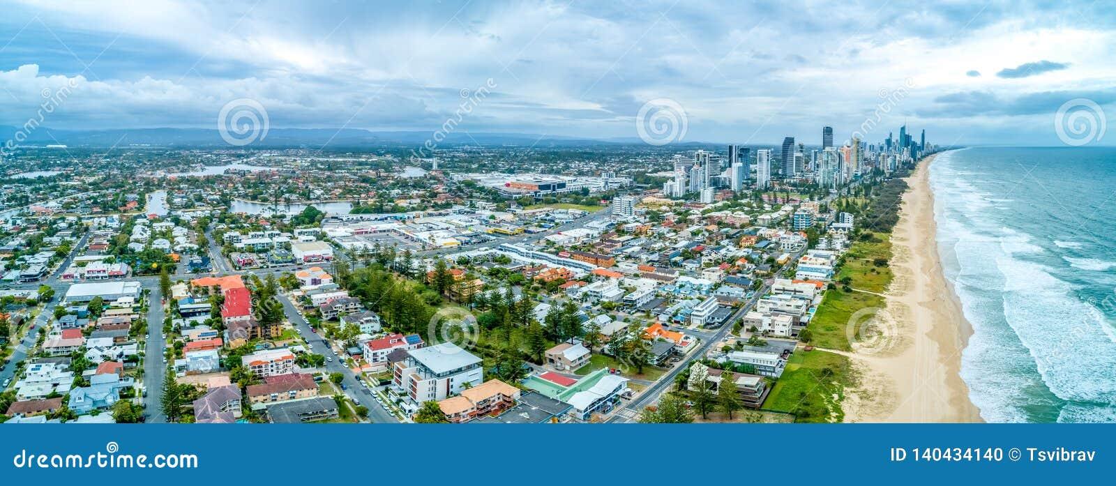 Panorama des maisons sur Gold Coast