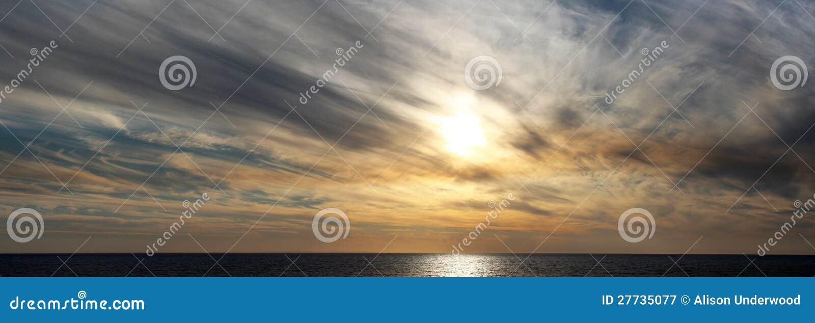 Panorama des rauchigen Sonnenuntergangs Bunbury Westaustralien