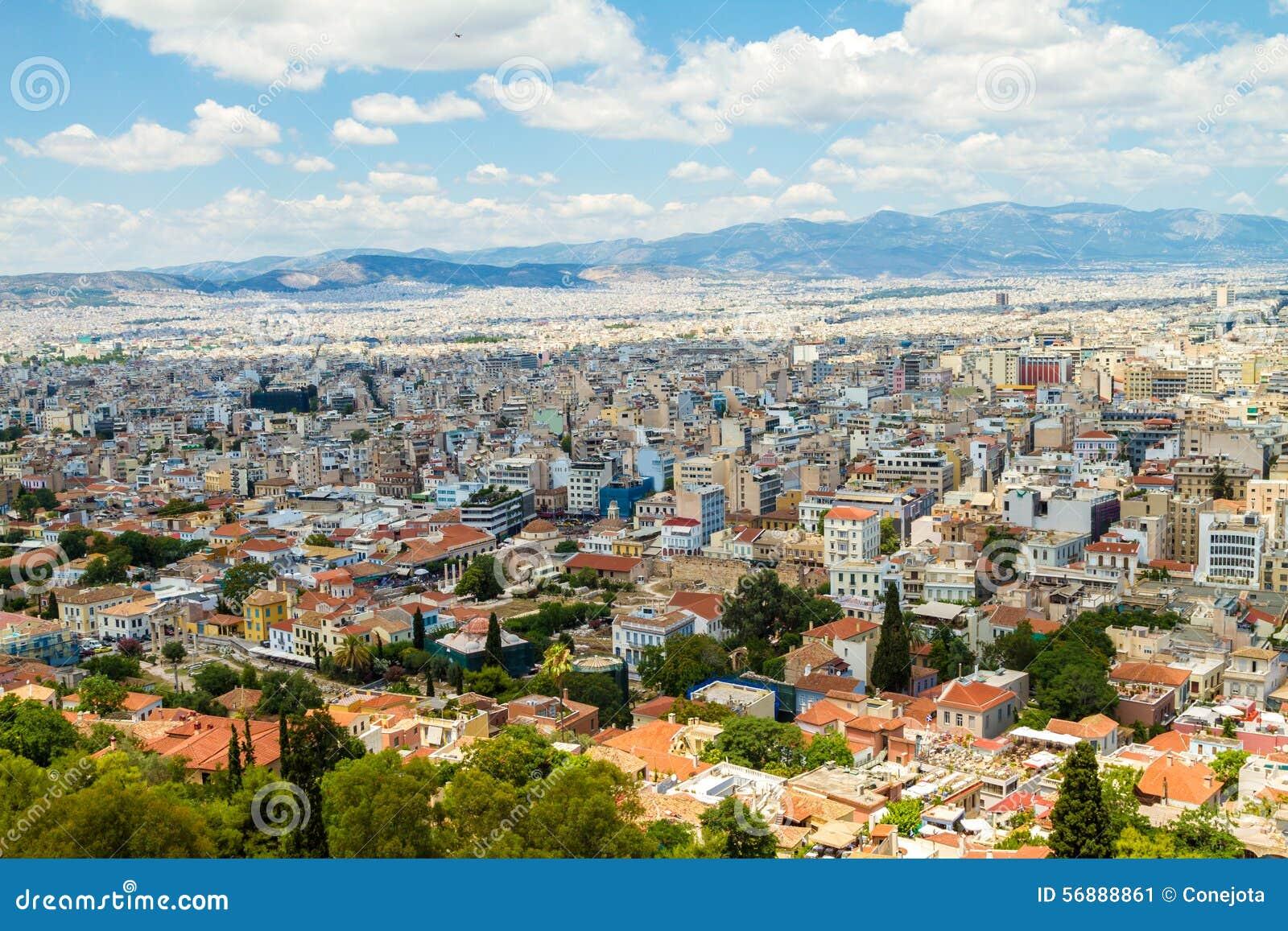 Panorama di Atene, Grecia