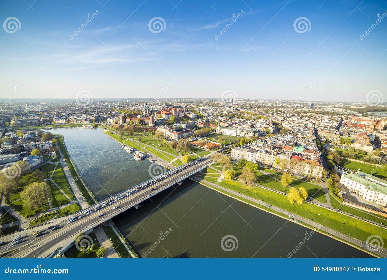 Panorama di bella Cracovia, Europa