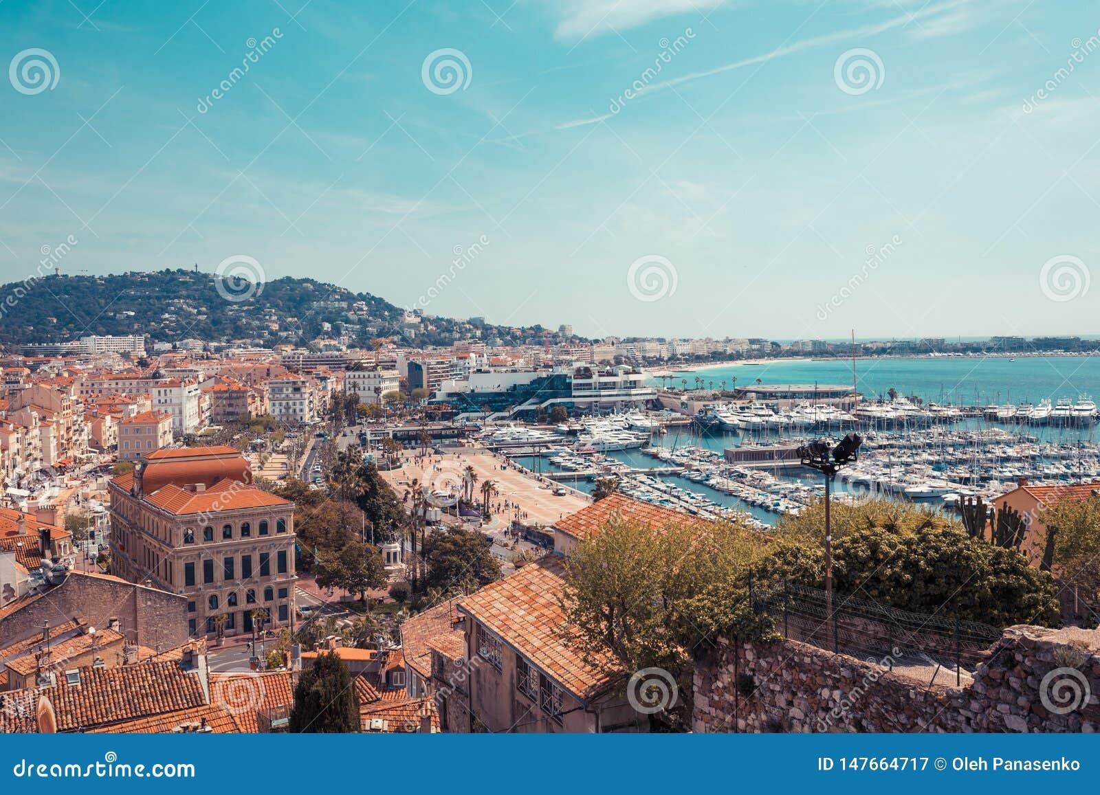 Panorama Di Cannes, Cote D\'Azur, Francia, Europa Del Sud ...