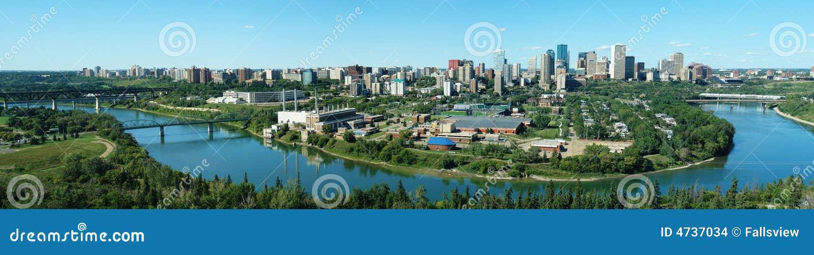 Panorama di Edmonton del centro