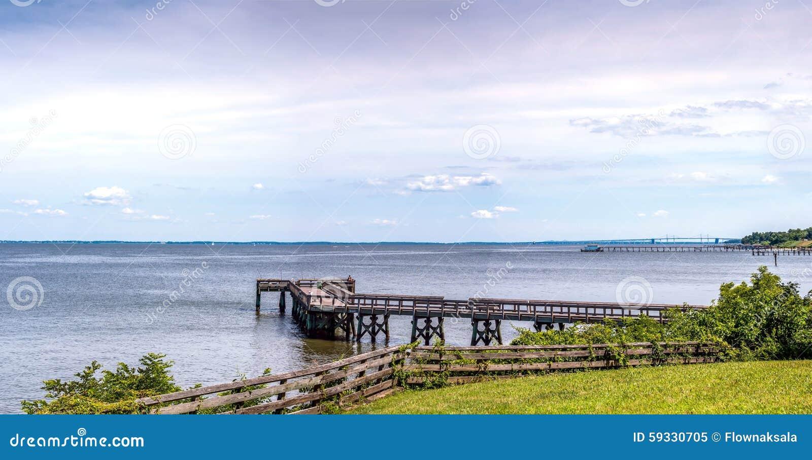 Panorama di Maryland della baia di Chesapeake