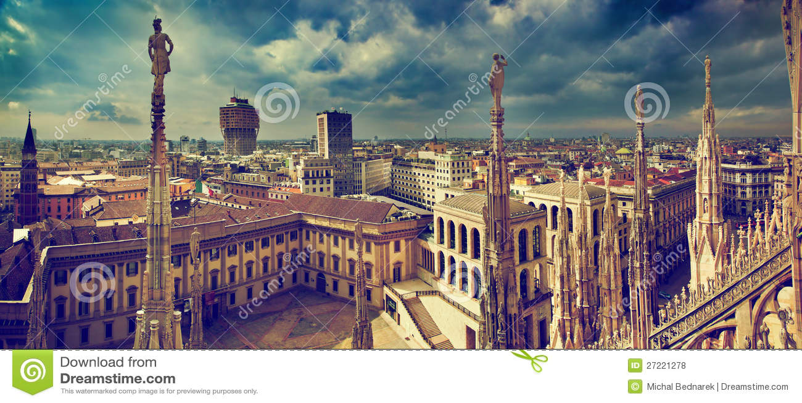 Panorama di Milano, Italia