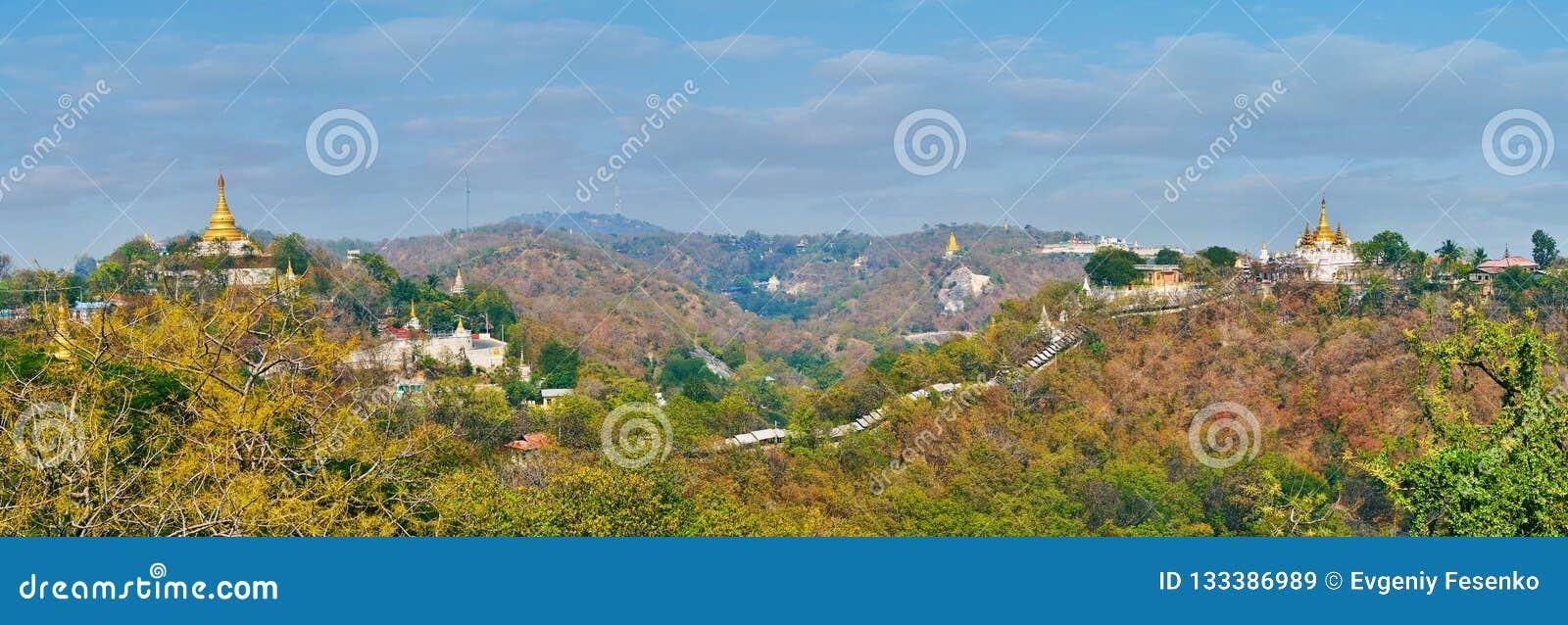 Panorama di Sagaing medievale