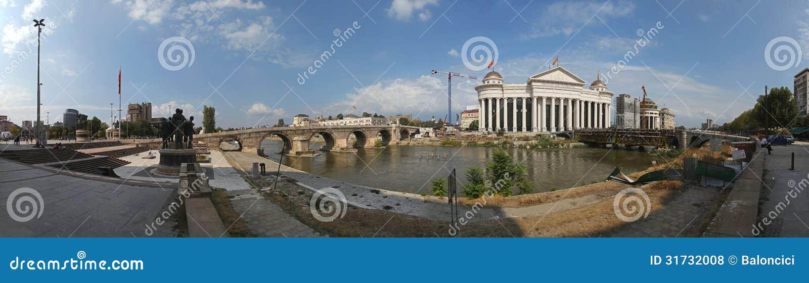 Panorama di Skopje