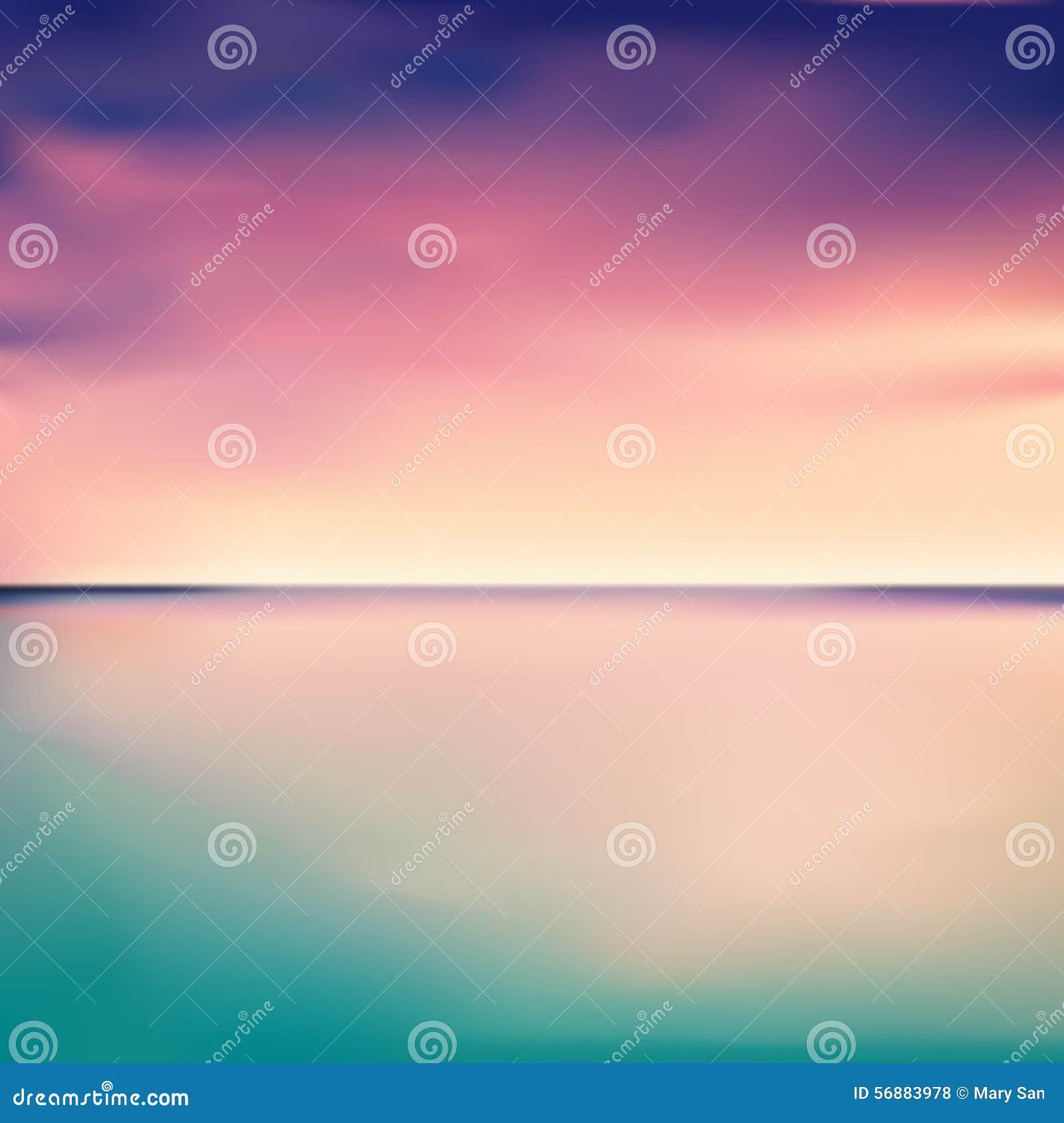 Panorama di un tramonto nel mare o nell oceano, vettore
