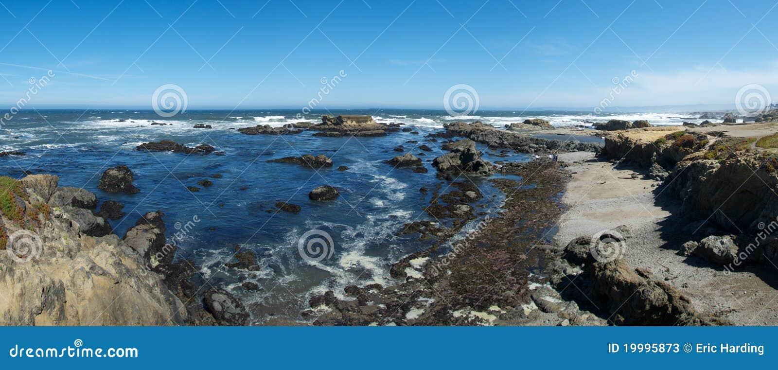 Panorama di vetro della spiaggia