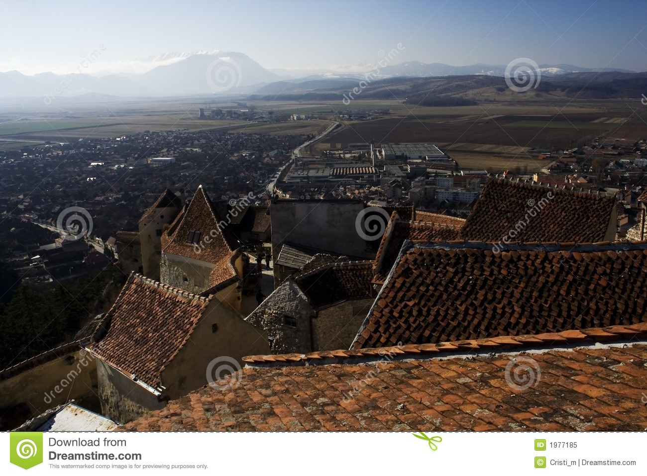 Panorama do castelo de Rasnov - Romania