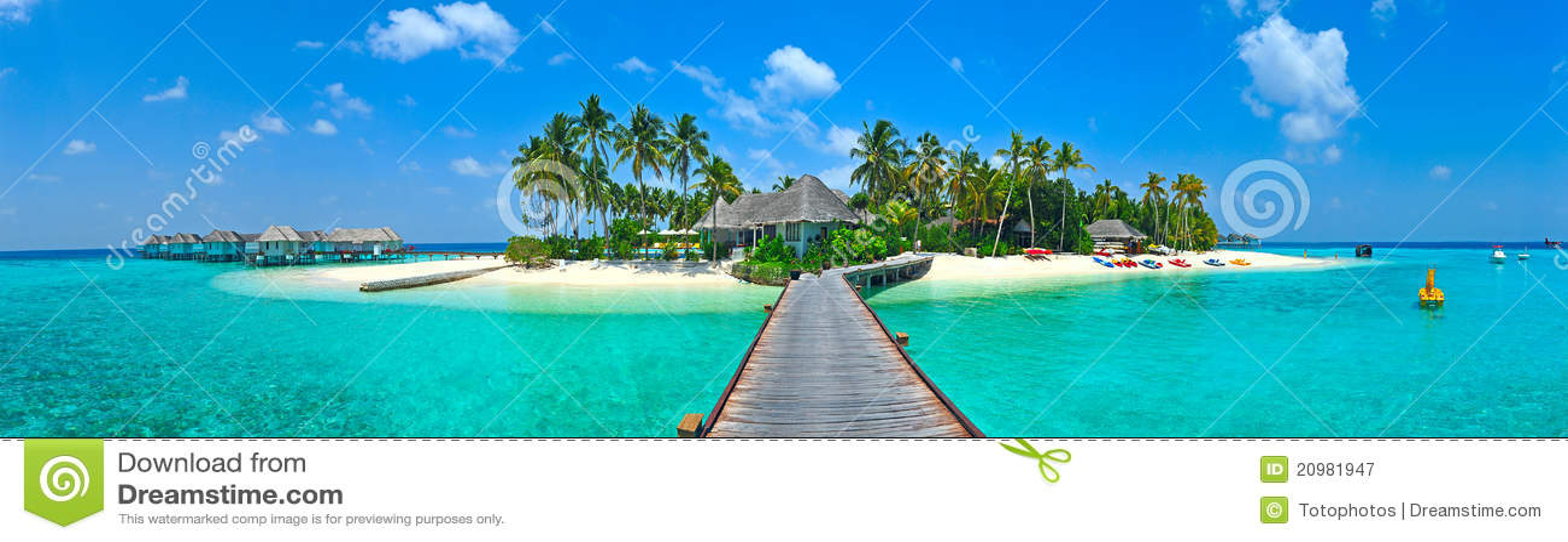 Panorama do console de Maldives