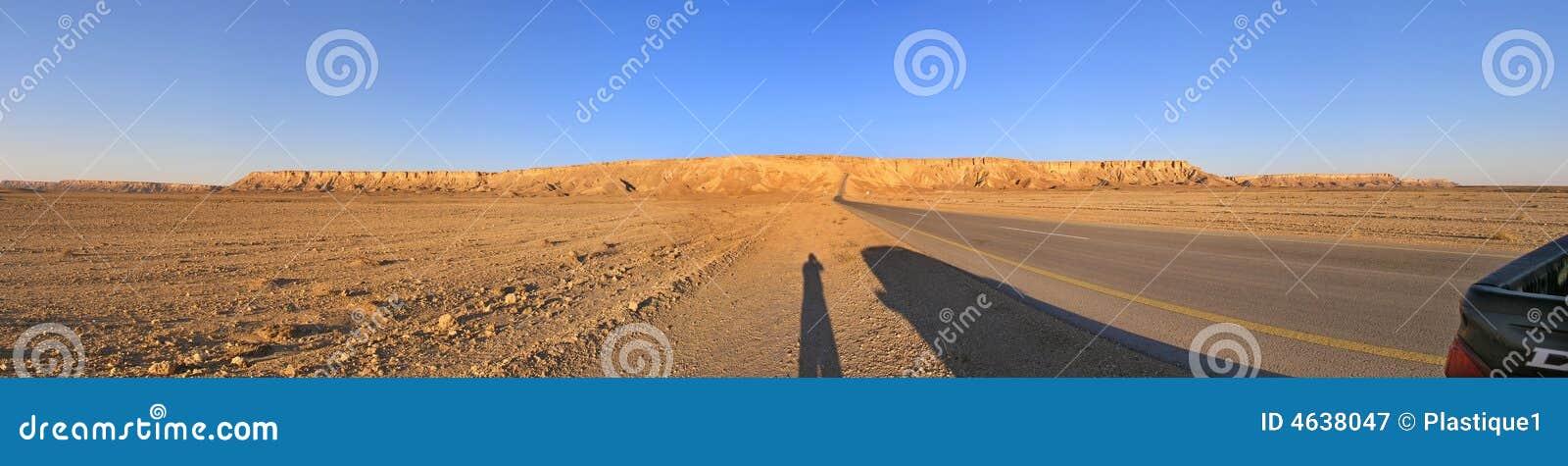 Panorama do deserto árabe