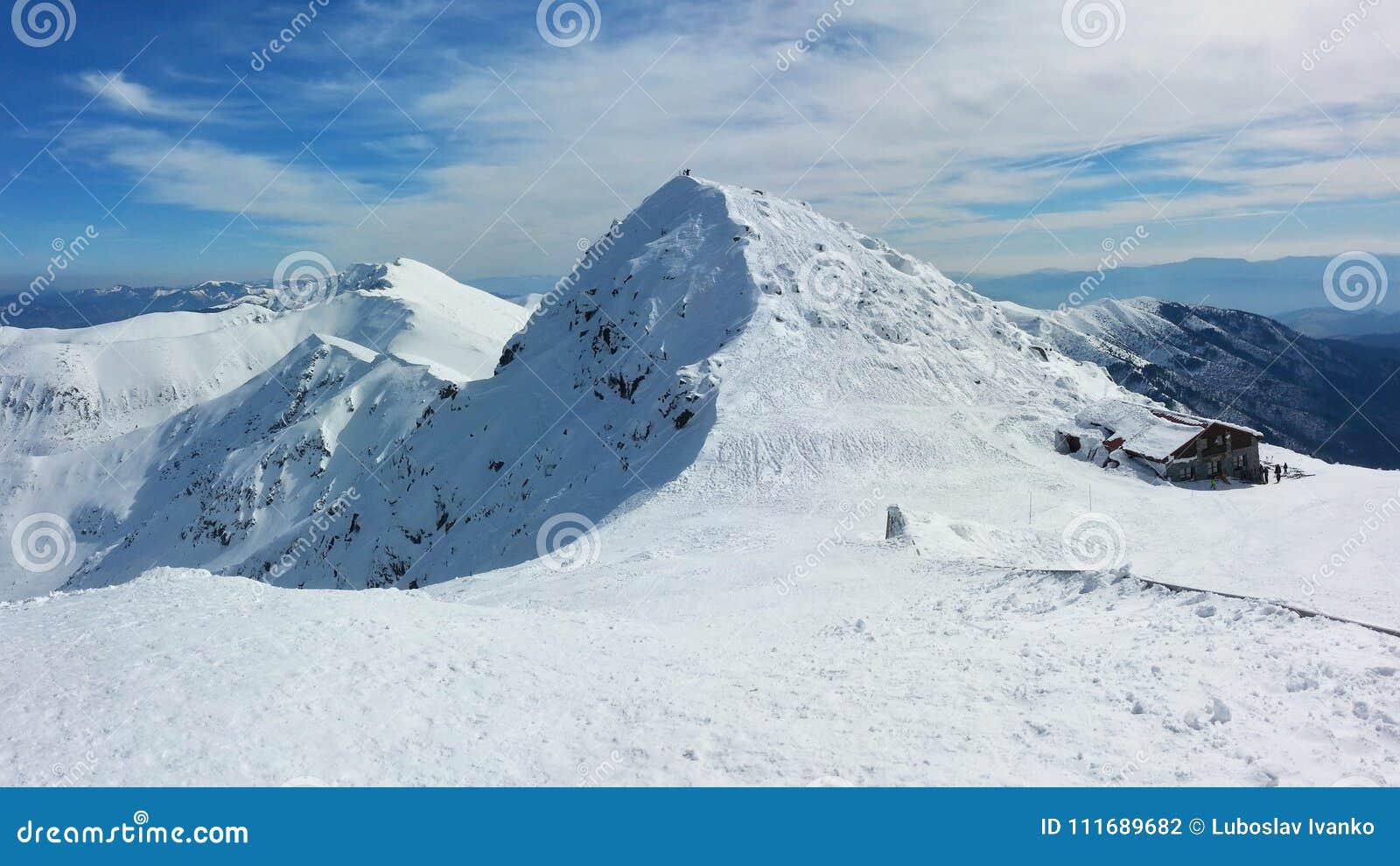 Panorama do inverno da montanha de Chopok