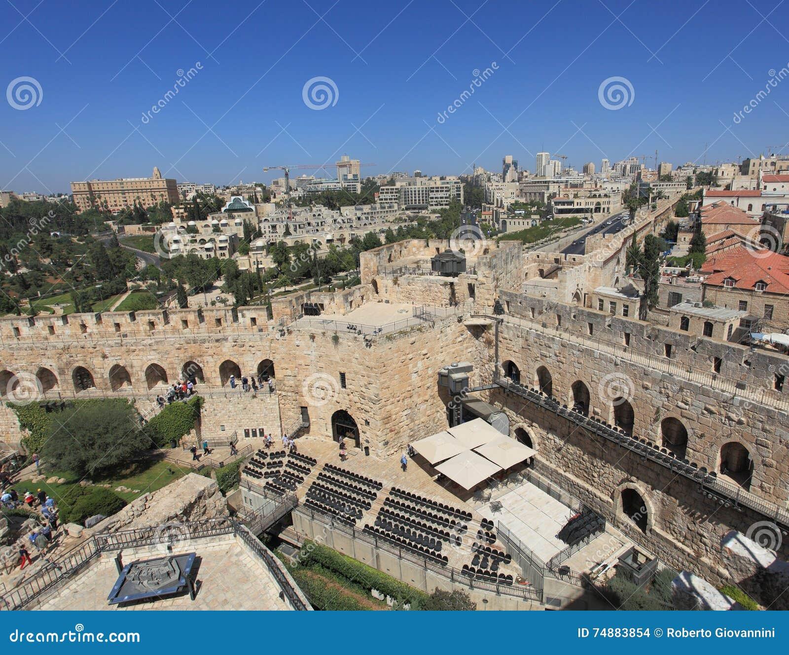 Panorama do Jerusalém da torre de Phasael