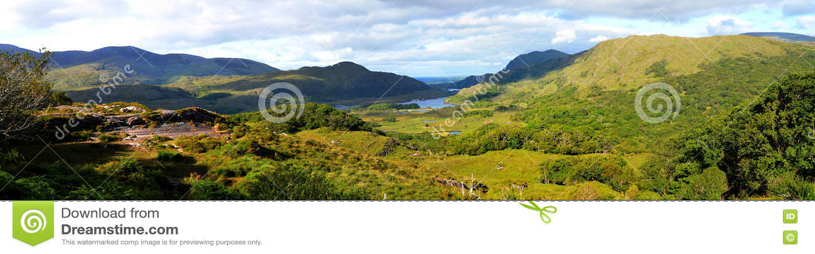 Panorama do vale de Killarney