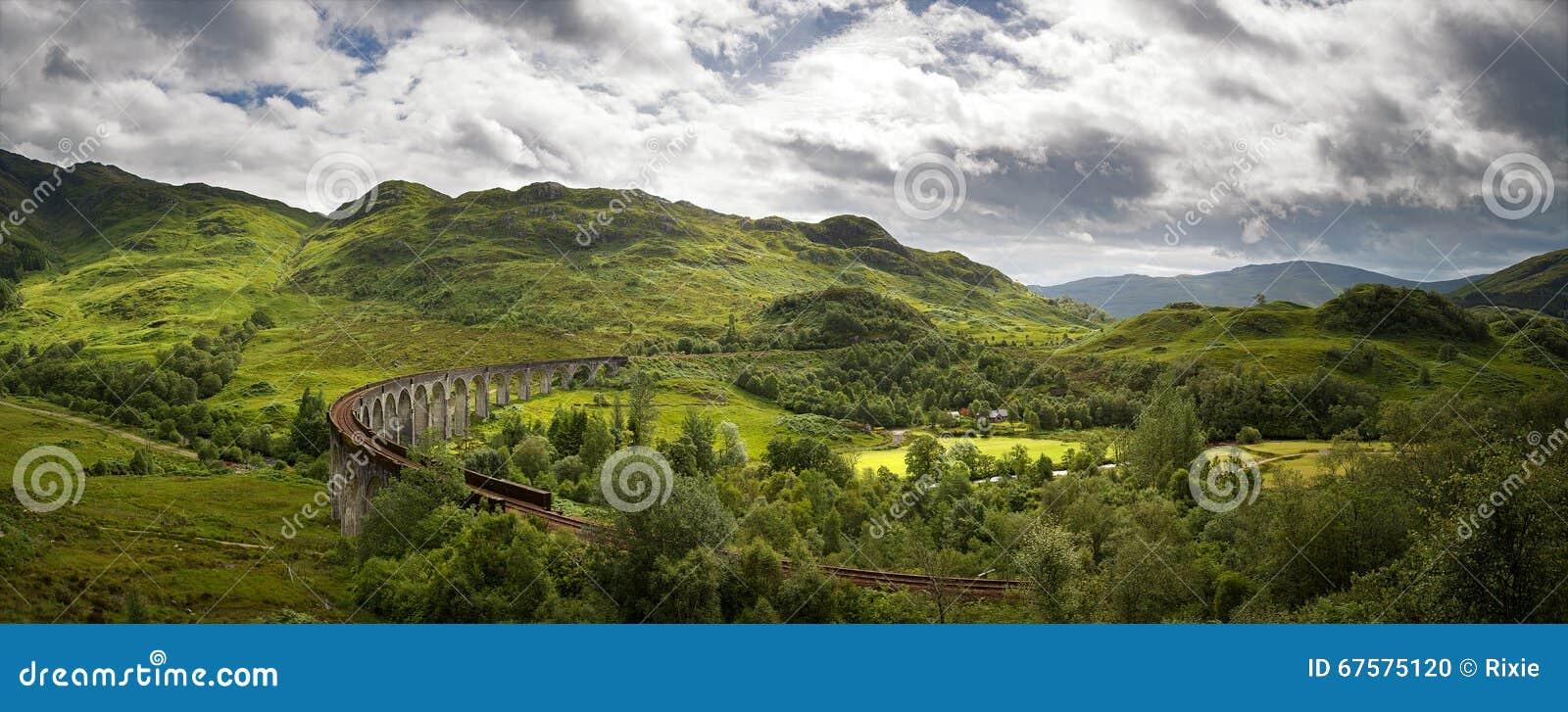 Panorama do viaduto de Glenfinnan
