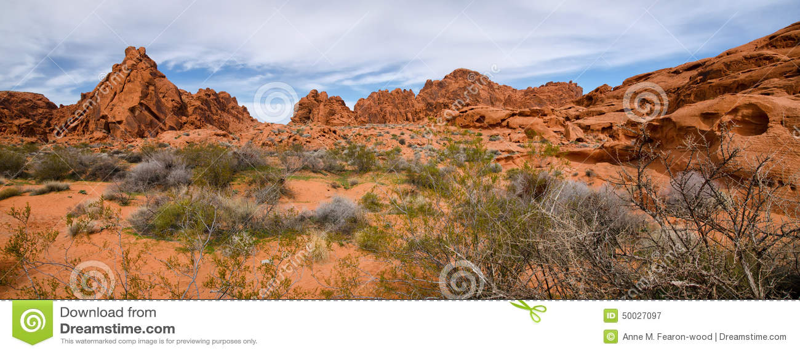 Panorama dolina Pożarniczy stanu park, Nevada
