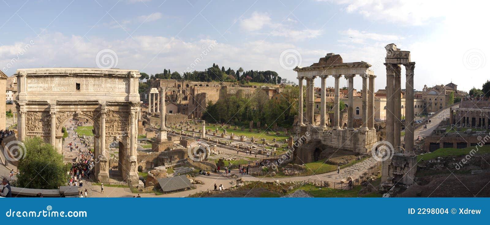 Panorama dos ruines de Roma