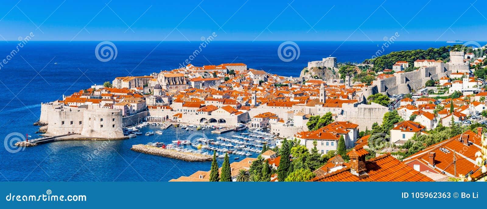 Panorama of Dubrovnik in Croatia