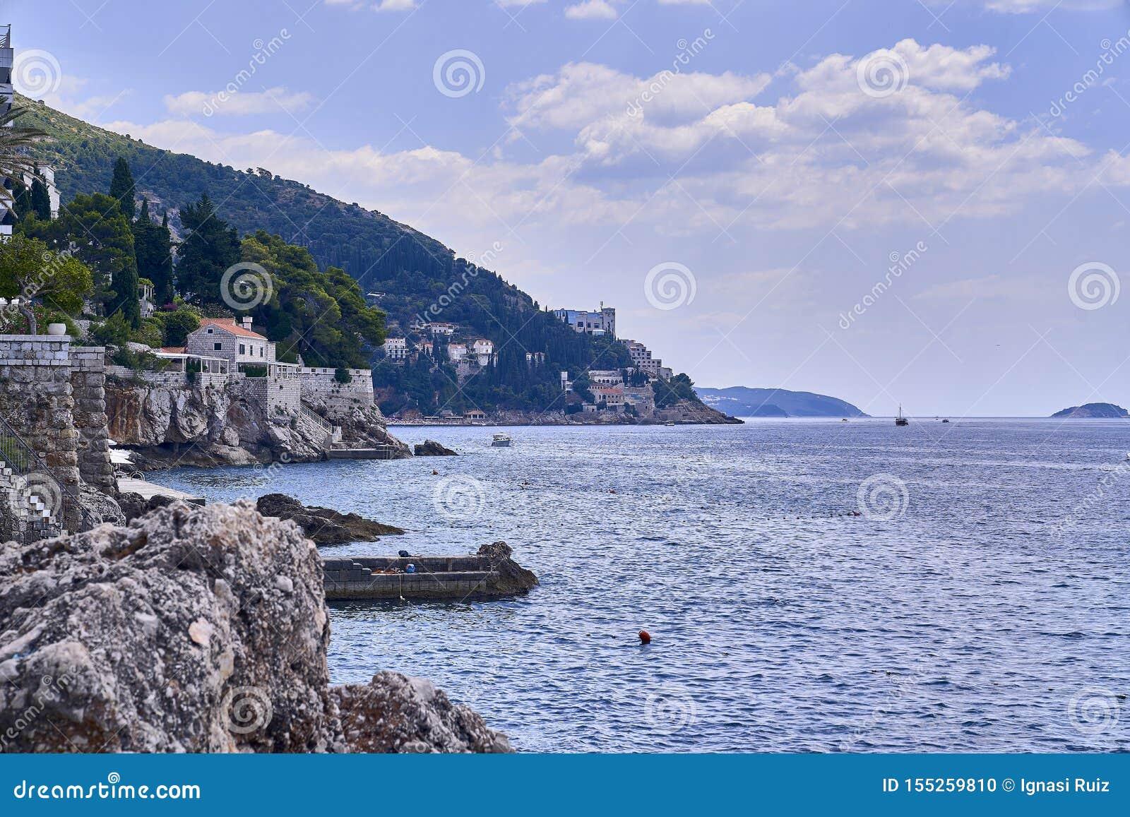 Panorama-Dubrovnik-Hafen Europa, Kroatien