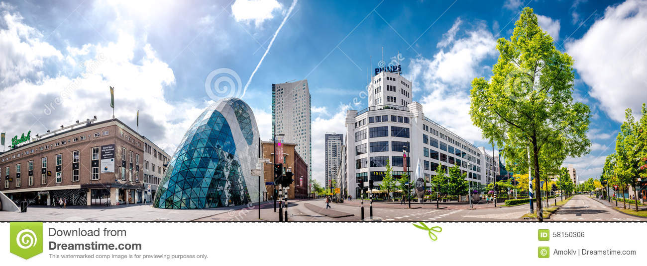 Panorama of Eindhoven city center. Netherlands