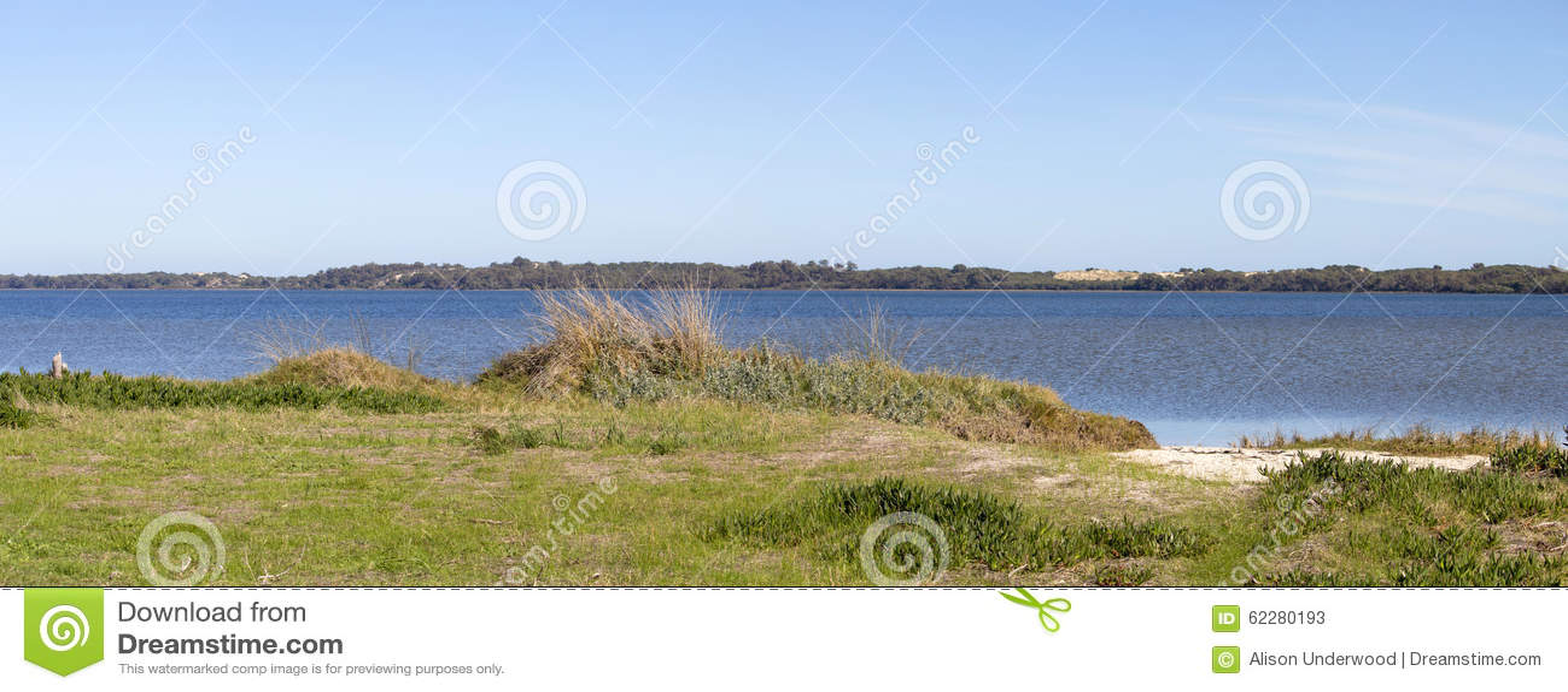Panorama Escénico Del Walkpath A Lo Largo Del Estuario Bunbury ...