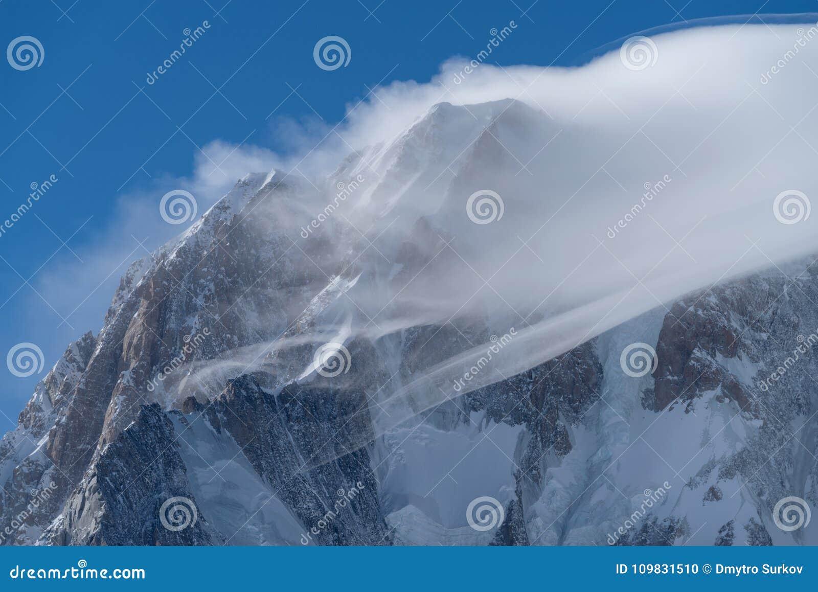 Panorama för mont för massiv för alpsblanc italiensk