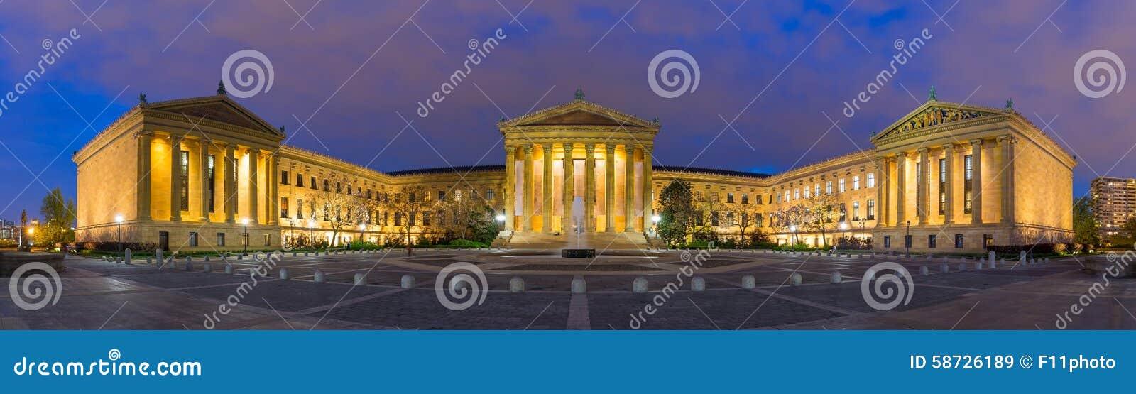 Panorama Filadelfia Pennsylwania muzeum sztuki