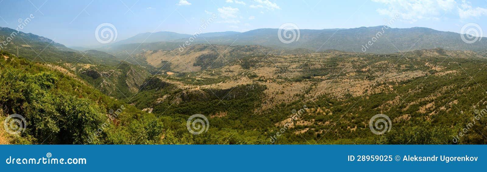 Panorama góry Montenegro