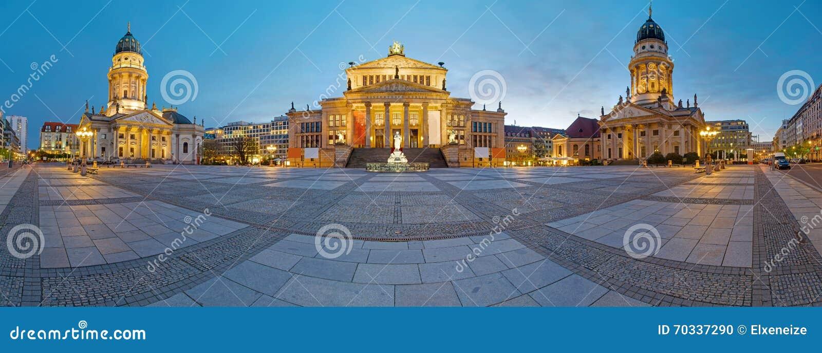 Panorama of the Gendarmenmarkt in Berlin
