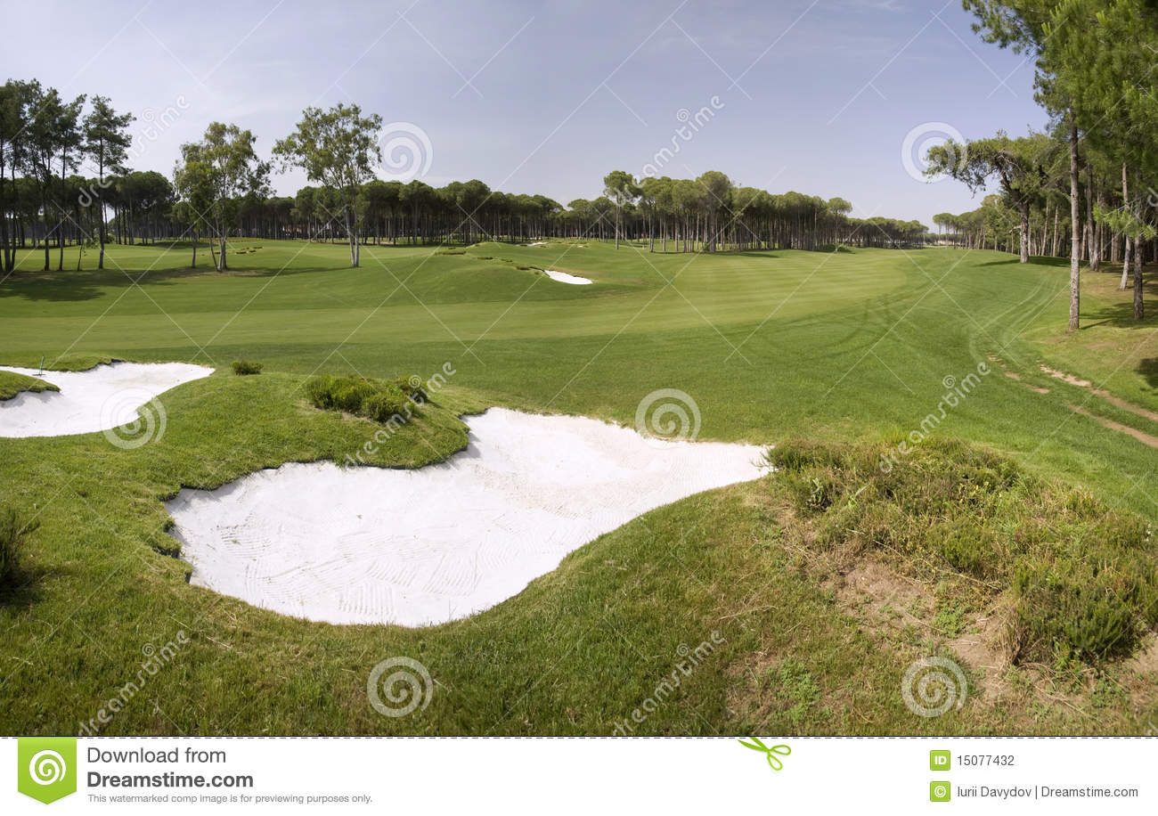 Panorama Of Golf Club Stock Photography - Image: 15077432