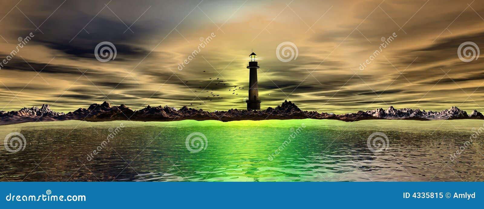 Panorama- hav för fyr