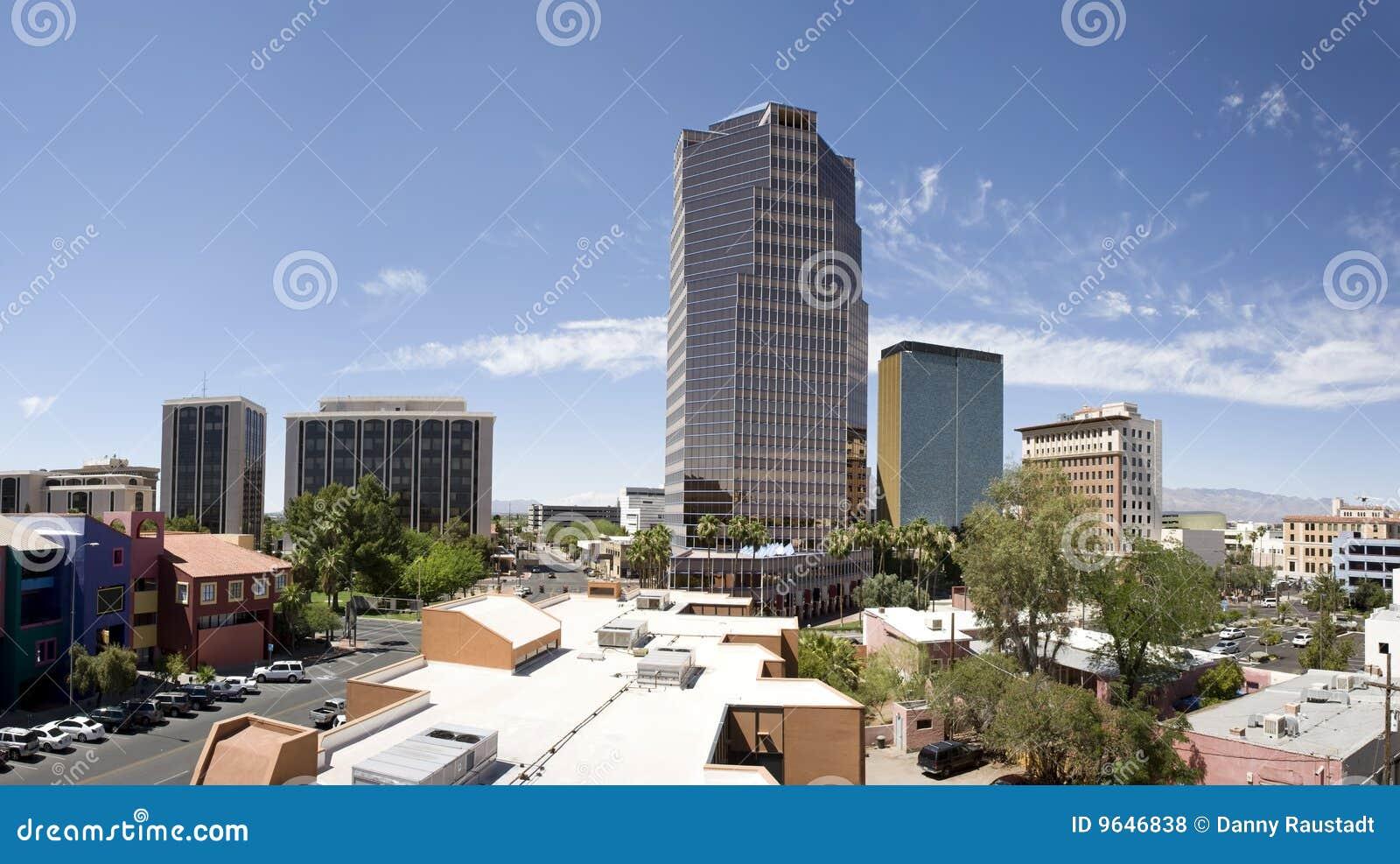 Panorama het van de binnenstad van Tucson Arizona