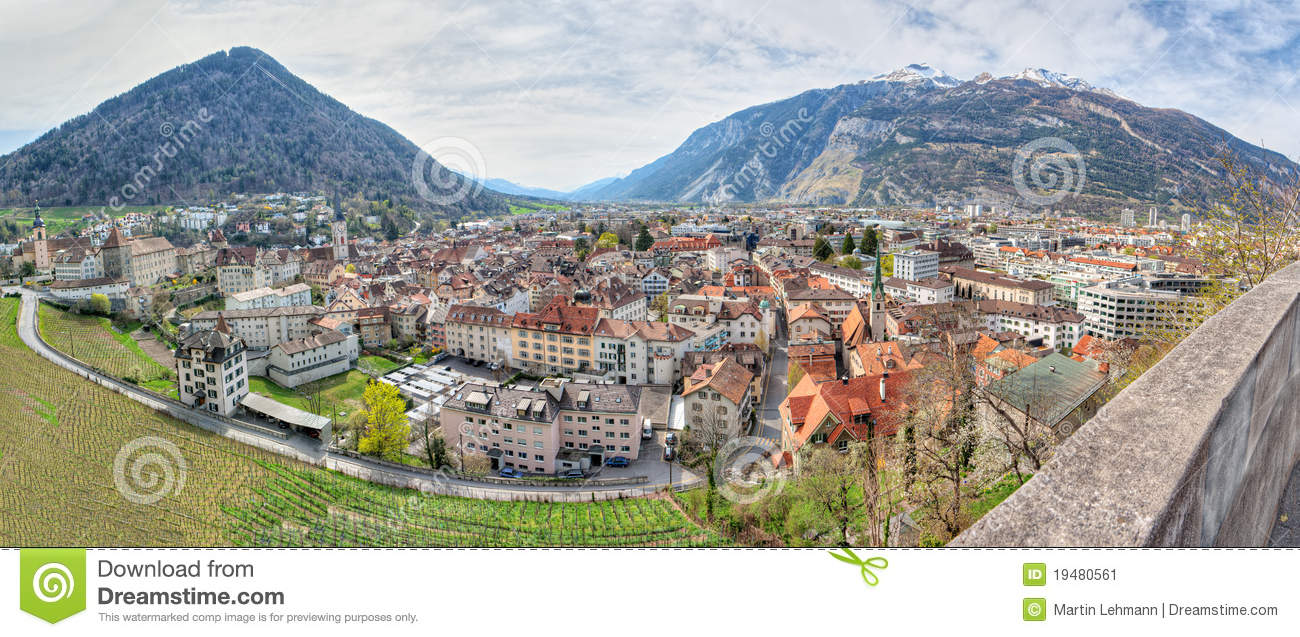 Chur Switzerland  city pictures gallery : ... old houses surrounded by vinyards and mountains in Chur, Switzerland