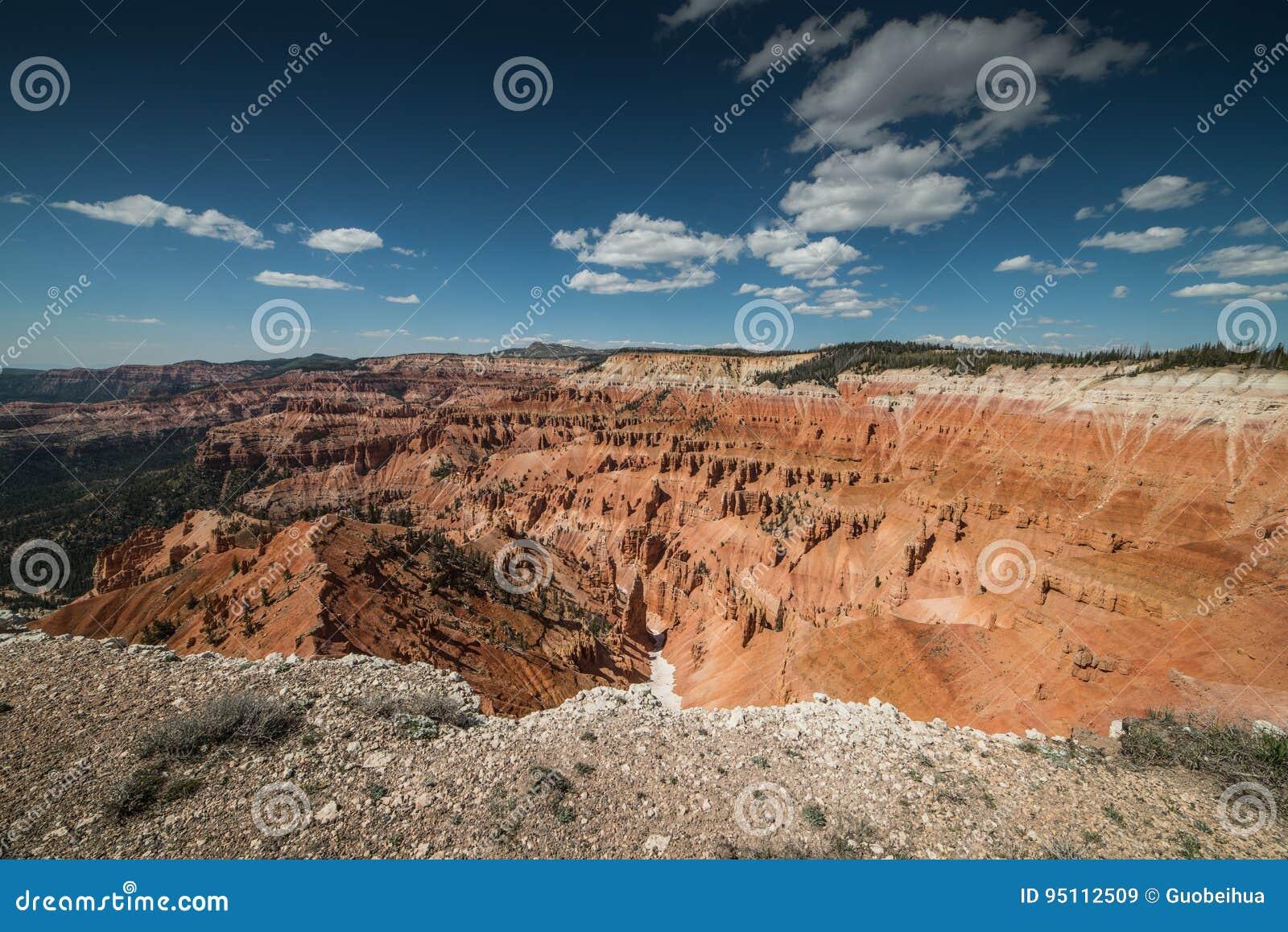 Panorama of Hoodoos Formation From Point Supreme in Cedar Breaks National Monument, Brian Head, Utah