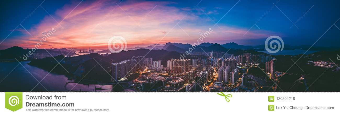 Download Panorama Images Of Hong Kong Cityscape View From Sky Stock Photo - Image of architecture, panoramic: 120204218