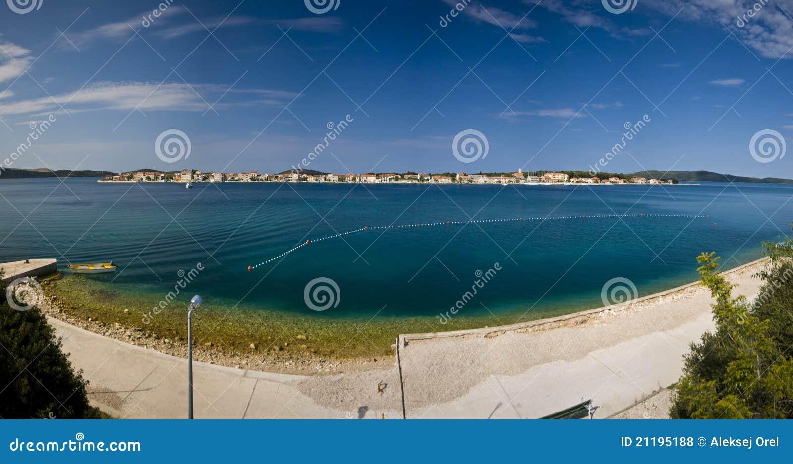 Panorama of island Krapanj