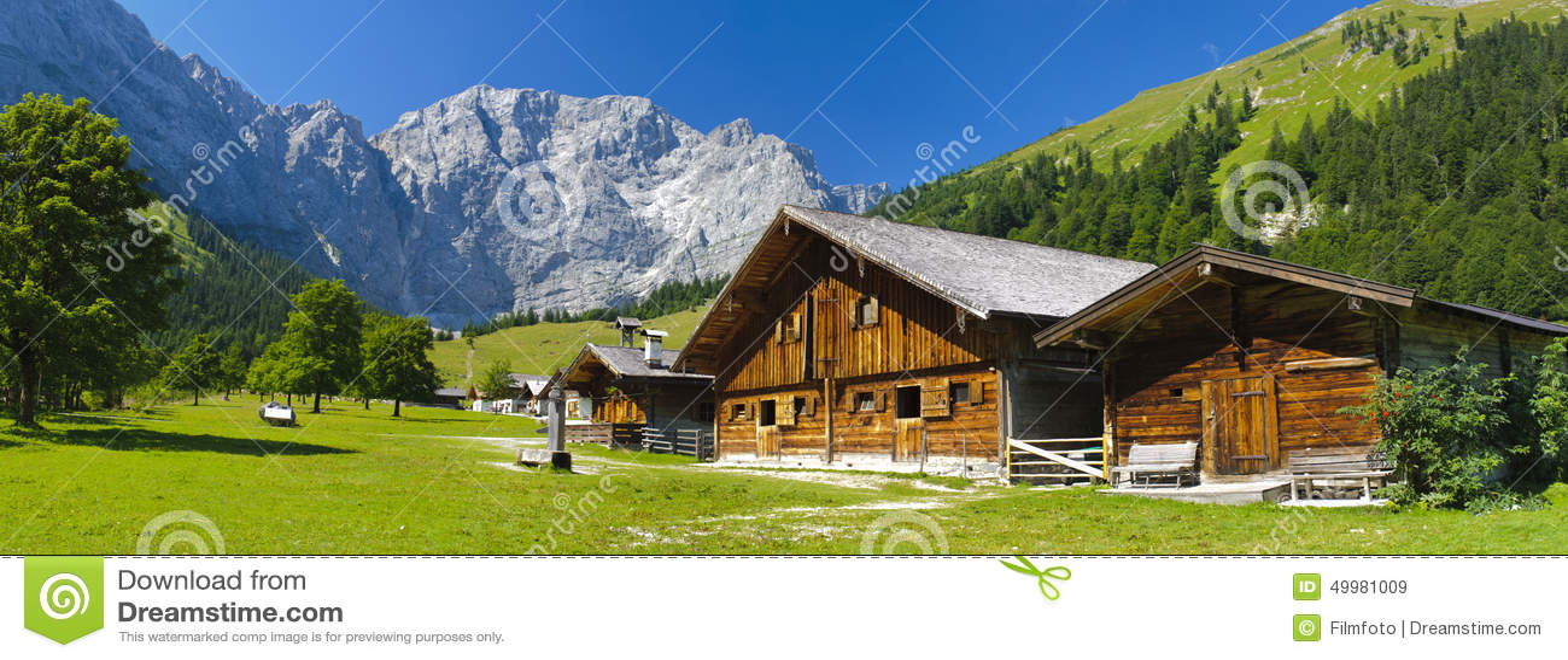 Panorama krajobraz w bavaria