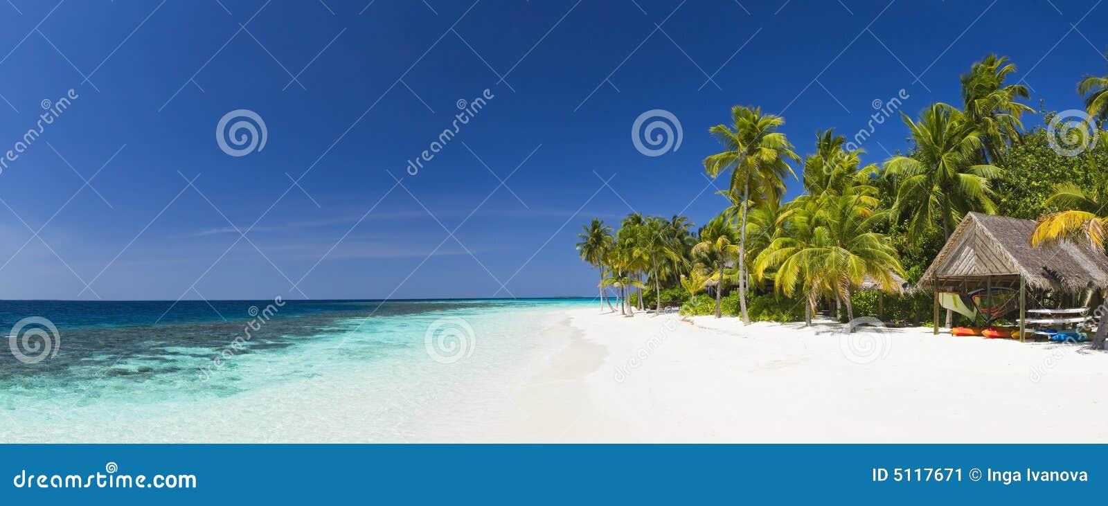 Panorama kurort tropikalne wyspy