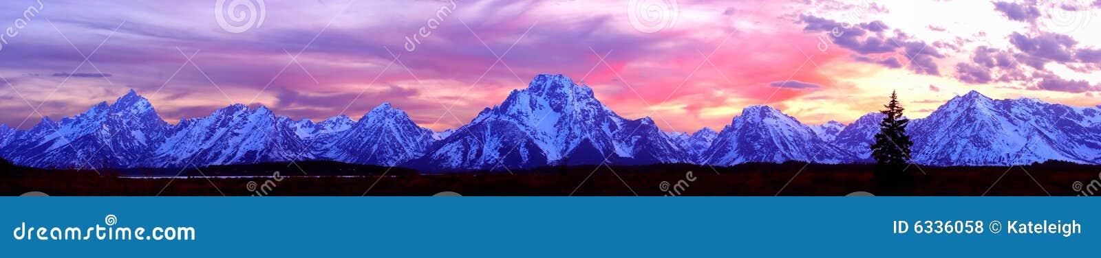 Panorama magnífico de Teton