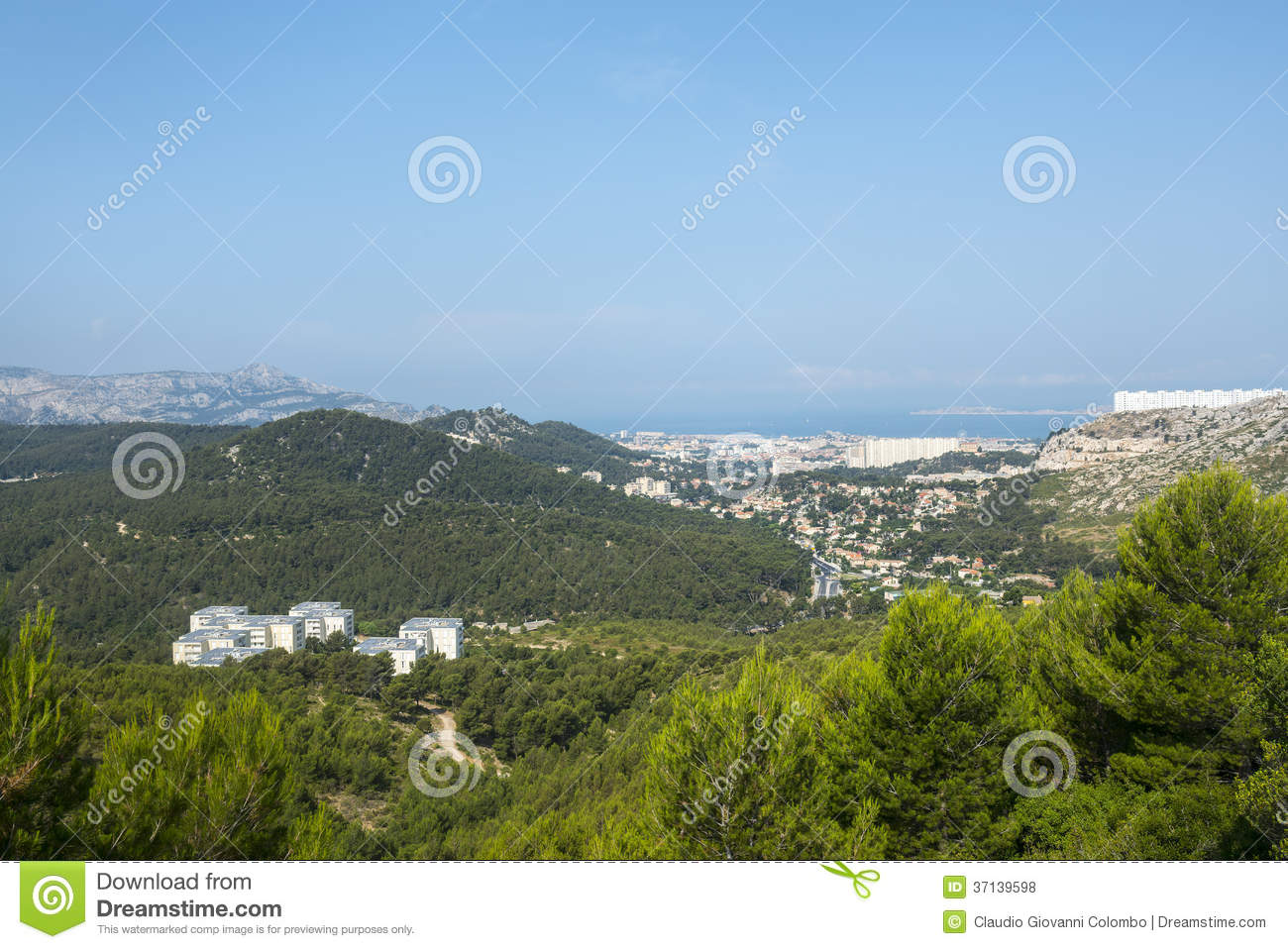 Panorama of marseille royalty free stock photos image for Bouche du rhone marseille