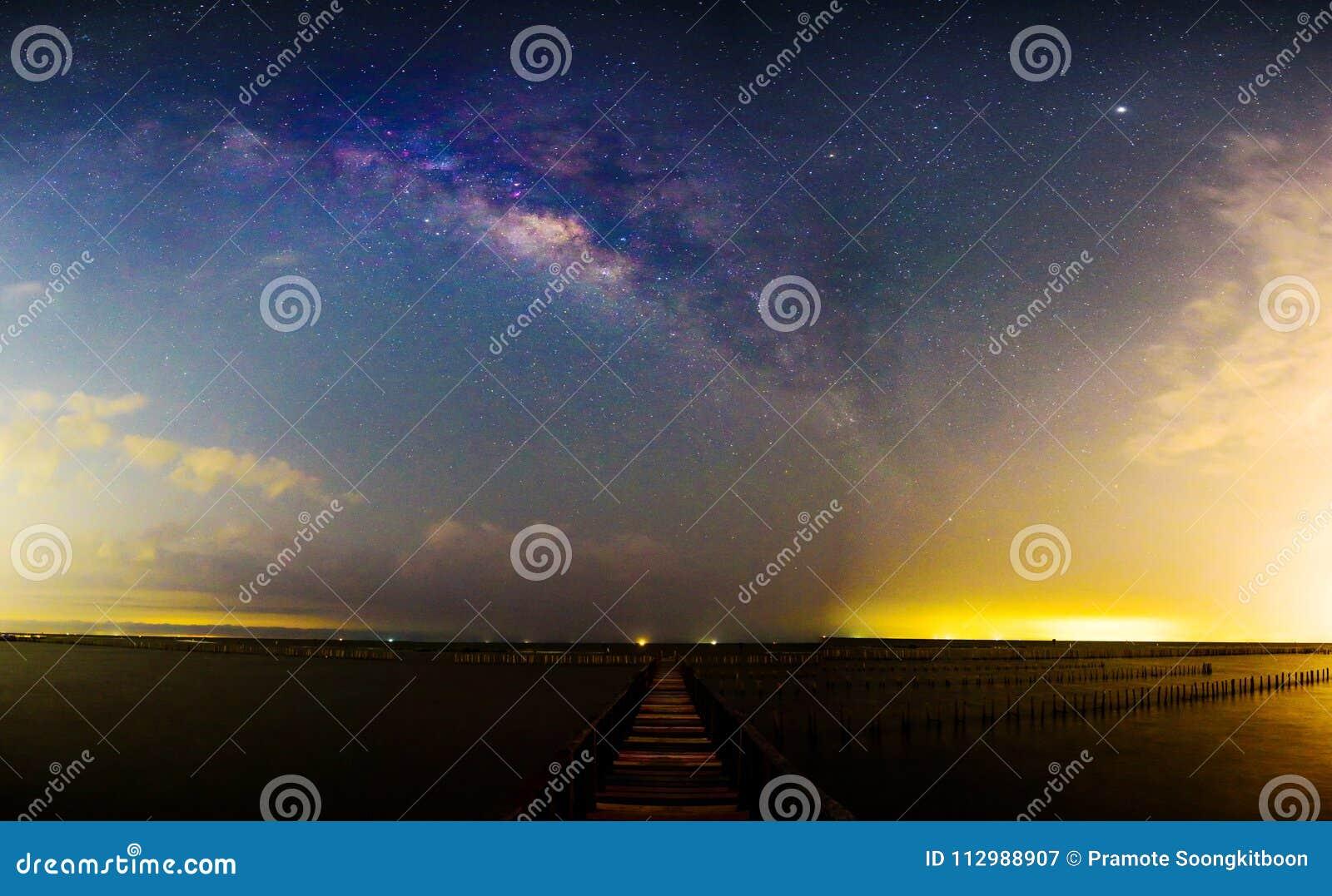 Panorama Milky way at the bridge